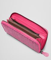 Rosa Shock Intrecciato Ayers Livrea Zip Around Wallet