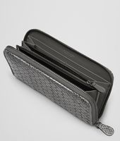 ZIP AROUND WALLET IN NEW LIGHT GREY INTRECCIATO AYERS