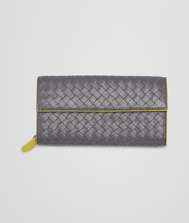 MEDIUM GREY NEW CHARTREUSE   INTRECCIATO  MADRAS HERITAGE  CONTINENTAL WALLET
