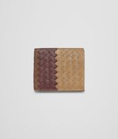 New Bronze Aubergine Edoardo Intrecciato Club Fumé Wallet