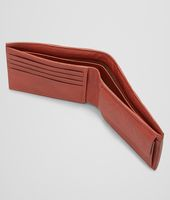Burnt Red Aubergine Edoardo Intrecciato Club Fumé Wallet