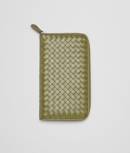 BOTTEGA VENETA - New Army Intrecciato Vn Zip Around Wallet