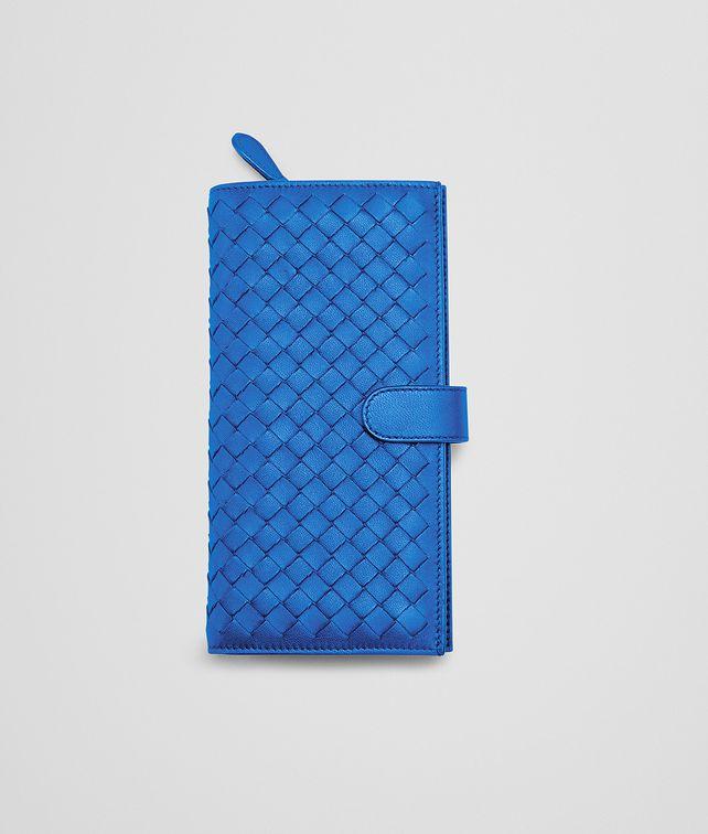 SIGNAL BLUE INTRECCIATO NAPPA CONTINENTAL WALLET