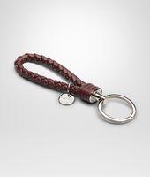 Aubergine Intrecciato Nappa Key Ring