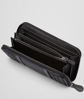 NERO INTRECCIATO NAPPA AND AYERS ZIP AROUND WALLET