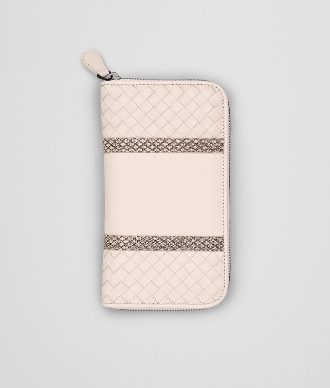 PALE INTRECCIATO NAPPA AYERS ZIP AROUND WALLET