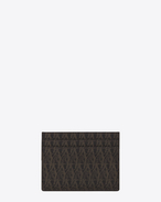 CLASSIC TOILE MONOGRAM CARD CASE IN BLACK PRINTED CANVAS AND LEATHER