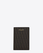 CLASSIC TOILE MONOGRAM Credit Card Wallet IN Black Printed Canvas