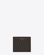 CLASSIC TOILE MONOGRAM EAST/WEST WALLET IN Black Printed Canvas