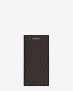 Klassisches Monogram Continental Portemonnaie aus schwarzem und beigem Canvas mit Print