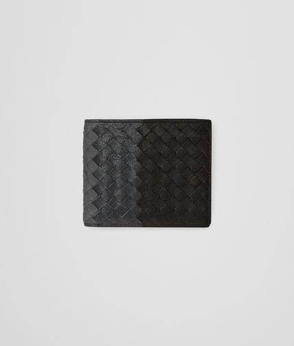 ESPRESSO ARDOISE NEW LIGHT GREY INTRECCIATO CLUB WALLET