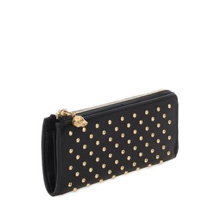 ALEXANDER MCQUEEN, Wallet, Black Nappa Leather Studded Continental Wallet