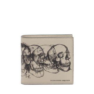 ALEXANDER MCQUEEN, Wallet, Multi Skull Printed Billfold Wallet