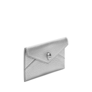ALEXANDER MCQUEEN, Card Holder, Matt Metallic Grain Envelope Card Holder