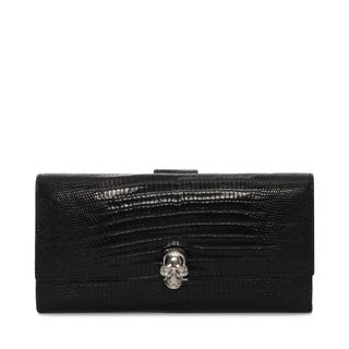 ALEXANDER MCQUEEN, Wallet, Continental Skull Leather Wallet