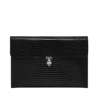 ALEXANDER MCQUEEN, Envelope, Embossed Leather Skull Closure Envelope
