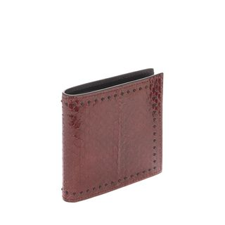 ALEXANDER MCQUEEN, Wallet, Snakeskin 8 Credit Card Billfold Wallet
