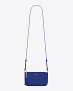 MONOGRAM SAINT LAURENT Crossbody Phone Pouch in Ultramarine Leather