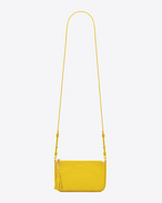 MONOGRAM SAINT LAURENT Crossbody Phone Pouch in Yellow Leather