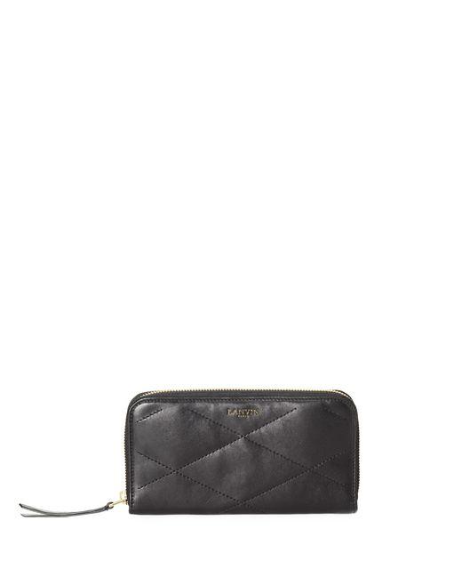 lanvin long zipped sugar wallet in lambskin women