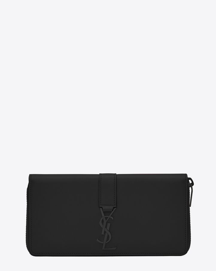 Saint laurent portefeuille zipp ysl en cuir noir for Porte carte ysl