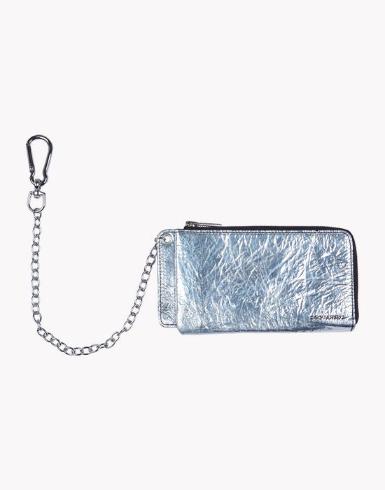silver & black wallet other accessories Man Dsquared2