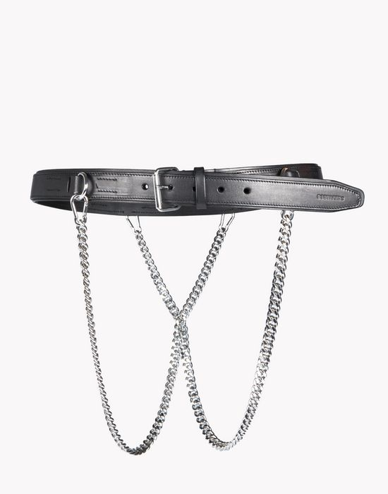 leather double chain belt belts Man Dsquared2
