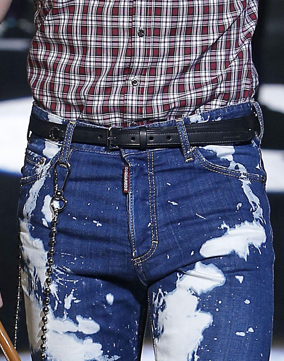 leather double chain belt belts Man Dsquared2