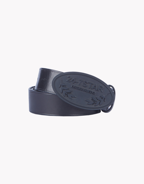leather 24-7 star buckle belt  gürtel  Herren Dsquared2