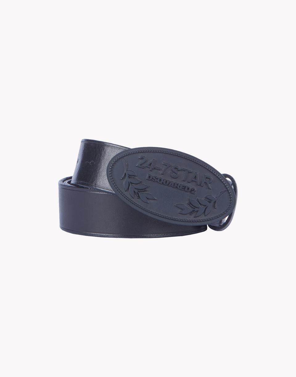 leather 24-7 star buckle belt  belts Man Dsquared2
