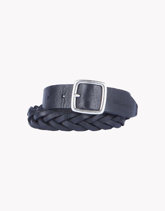 leather woven belt gürtel  Herren Dsquared2
