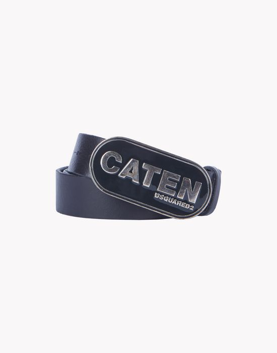 leather caten buckle belt cinture Uomo Dsquared2