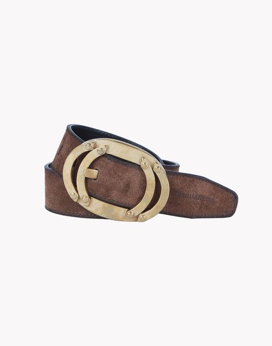 leather bronze buckle belt cinturones Hombre Dsquared2