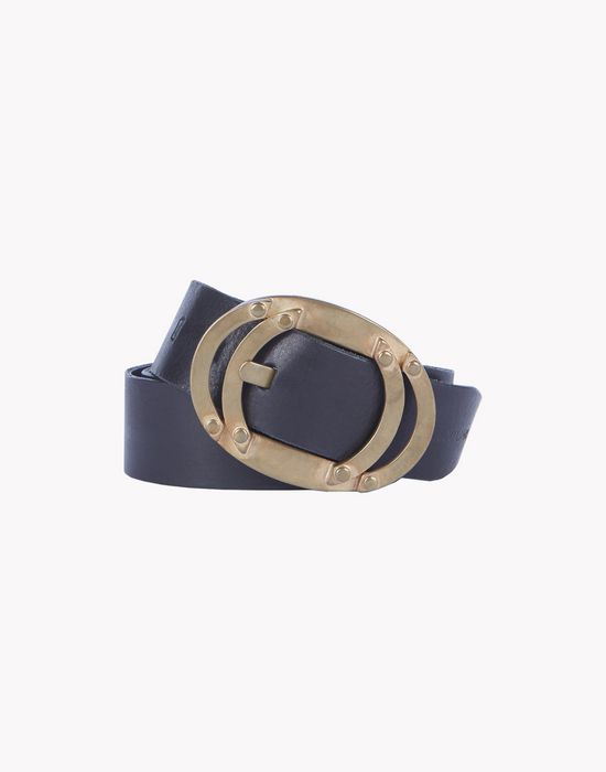 leather bronze buckle belt ceintures Homme Dsquared2