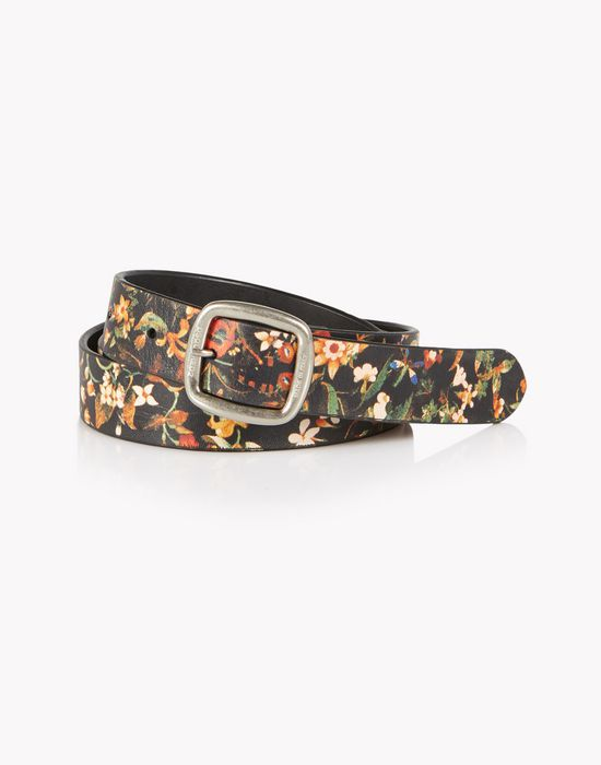 floral leather belt gürtel  Damen Dsquared2