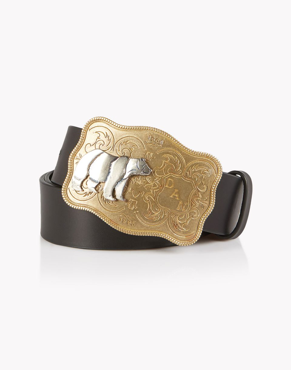 leather plaque belt belts Woman Dsquared2