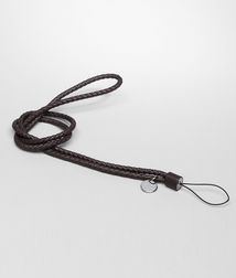 BOTTEGA VENETA - Mobile and Tech Accessories, Ebano Intrecciato Nappa Cell Phone Strap