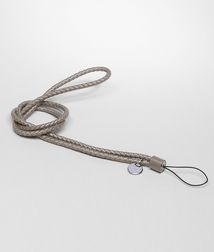 BOTTEGA VENETA - Mobile and Tech Accessories, Fume Intrecciato Nappa Cell Phone Strap