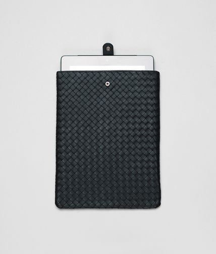 BOTTEGA VENETA - Tourmaline Intrecciato Nappa Ipad Case