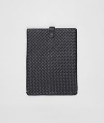 BOTTEGA VENETA - Mobile and Tech Accessories, Nero Intrecciato Nappa Ipad Case