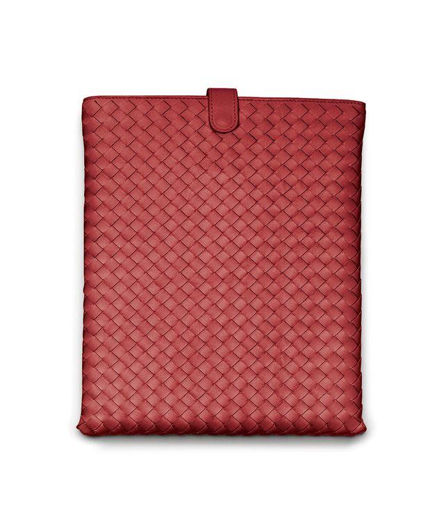 iPad-Hülle aus Nappaleder Intrecciato Blood