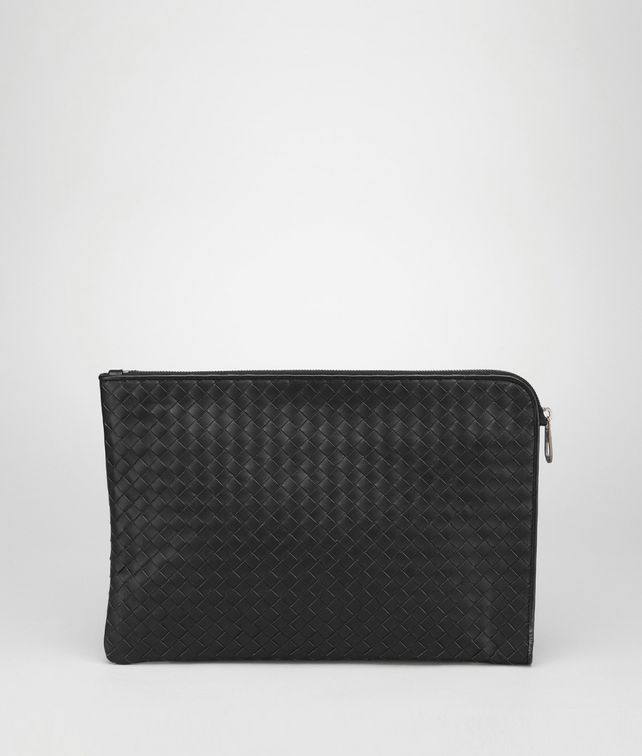 BOTTEGA VENETA DOCUMENT CASE IN NERO INTRECCIATO VN Small bag U fp