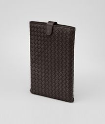 BOTTEGA VENETA - Mobile and Tech Accessories, Ebano Intrecciato Nappa Mini Ipad Case