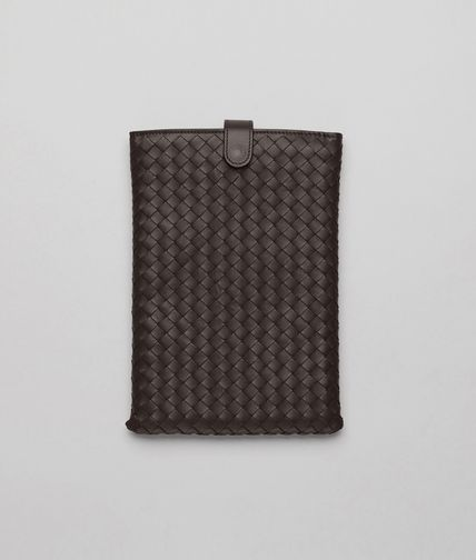 BOTTEGA VENETA - Ebano Intrecciato Nappa Mini Ipad Case