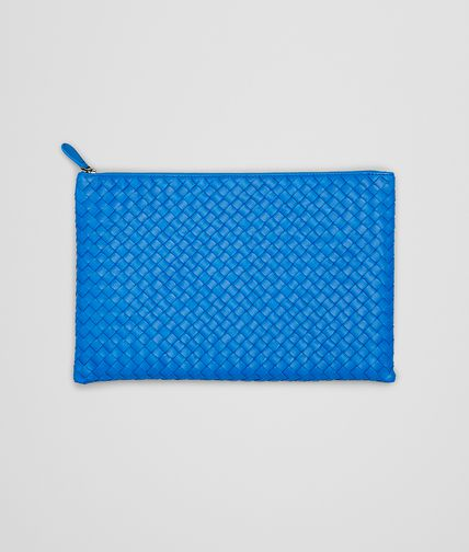 BOTTEGA VENETA -  Signal Blue Intrecciato Nappa Document Case