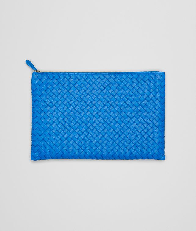 SIGNAL BLUE INTRECCIATO NAPPA DOCUMENT CASE