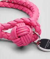 Rosa Shock Intrecciato Nappa Bracelet