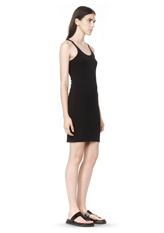 T by ALEXANDER WANG MODAL SPANDEX CAMI TANK DRESS Short Dress Adult 12_n_a