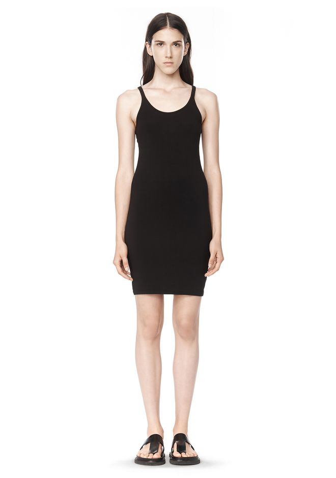 T by ALEXANDER WANG MODAL SPANDEX CAMI TANK DRESS Short Dress Adult 12_n_f
