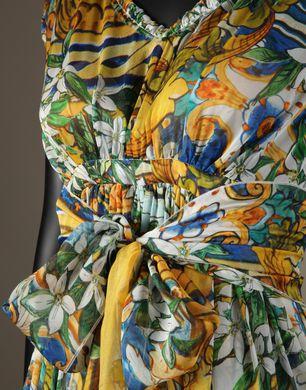 ABITO LUNGO STAMPA MAIOLICHE  - Vestiti lunghi - Dolce&Gabbana - Inverno 2016